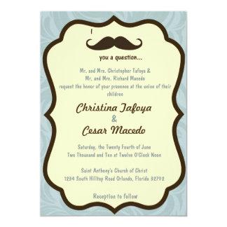 5x7 moustache du faire-part de mariage I vous une