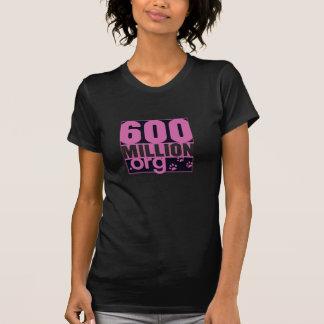 600 millions de T-shirt de base de femmes