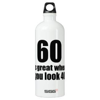 60 est grand quand vous regardez l'anniversaire bouteille d'eau en aluminium