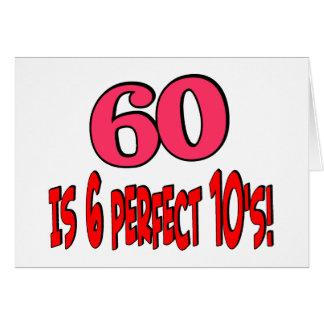 60 est les 6 années 10 parfaites (le ROSE) Carte De Vœux