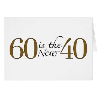 60 est les nouveaux 40 carte de vœux
