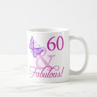 60 et cadeaux d'anniversaire fabuleux (prune) mug
