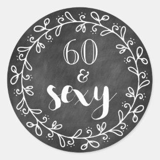 60 et soixantième autocollants sexy de coutume