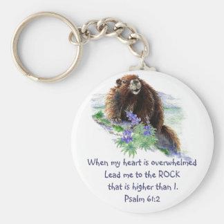 61:2 de psaume d'écriture sainte encourageant l'an porte-clé rond
