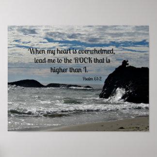 61:2 de psaume où mon coeur est accablé… poster