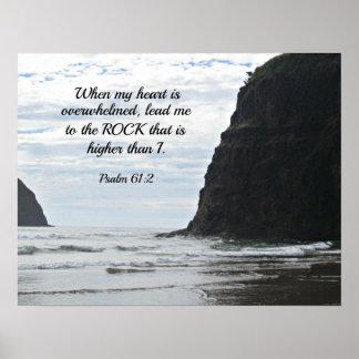 61:2 de psaume où mon coeur est accablé… posters