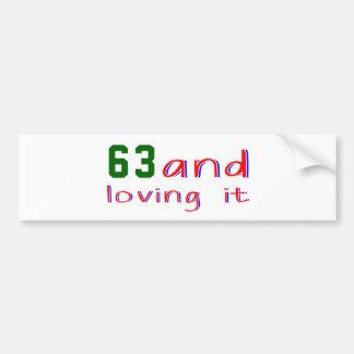 63 et l'aimer autocollants pour voiture