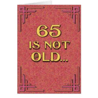 65 n'est pas vieux carte de vœux