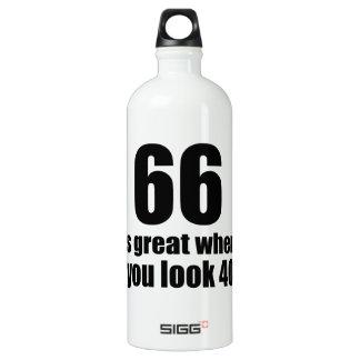 66 est grand quand vous regardez l'anniversaire bouteille d'eau en aluminium
