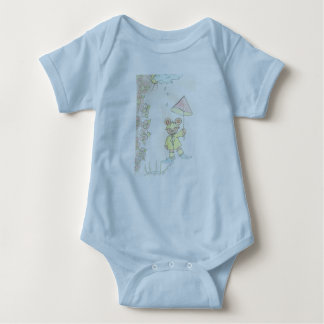 6 mois de T-shirt de bébé bleu-clair