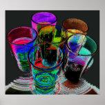 6 verres à liqueur colorés de cocktail - style 17 posters