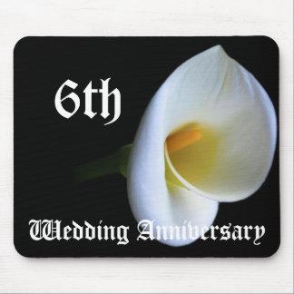 6ème anniversaire de mariage - lis tapis de souris