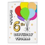 6ème carte d'anniversaire remplie par ballon