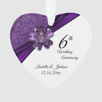 6ème Souvenir pourpre d'anniversaire de mariage
