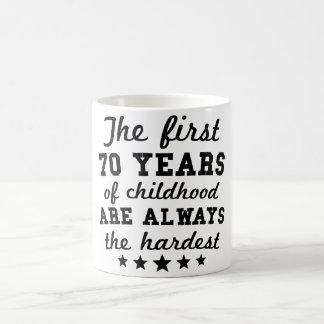 70 ans de soixante-dixième anniversaire d'enfance mug