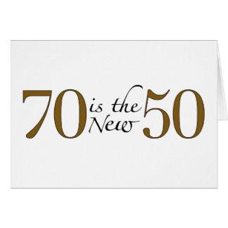 70 est les nouveaux 50 carte de vœux