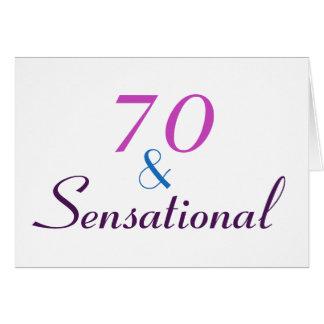 70 et sensationnel personnalisent la cartes
