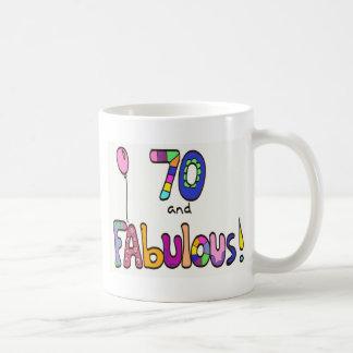 70 et soixante-dixième anniversaire fabuleux mug