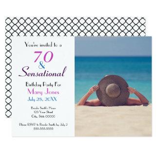 70 et soixante-dixième invitation sensationnelle