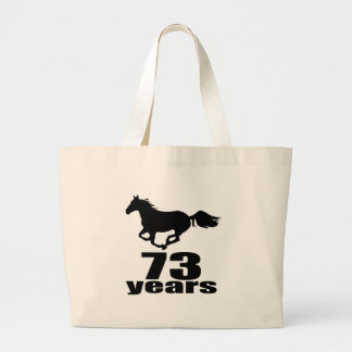 73 ans de conceptions d'anniversaire grand tote bag
