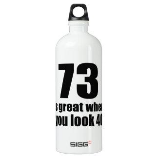 73 est grand quand vous regardez l'anniversaire bouteille d'eau en aluminium