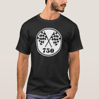 750 drapeaux Checkered T-shirt