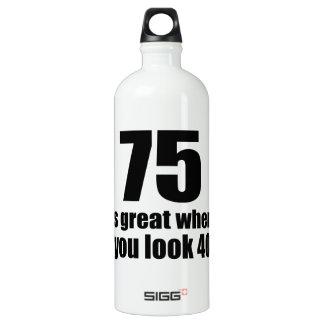 75 est grand quand vous regardez l'anniversaire bouteille d'eau en aluminium