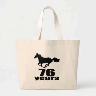 76 ans de conceptions d'anniversaire grand tote bag