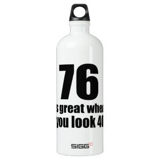 76 est grand quand vous regardez l'anniversaire bouteille d'eau en aluminium