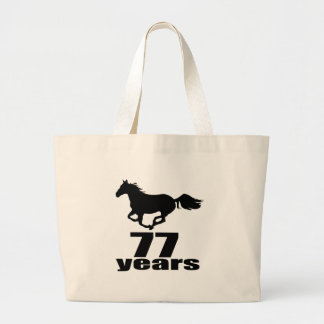 77 ans de conceptions d'anniversaire grand tote bag