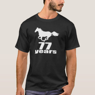 77 ans de conceptions d'anniversaire t-shirt