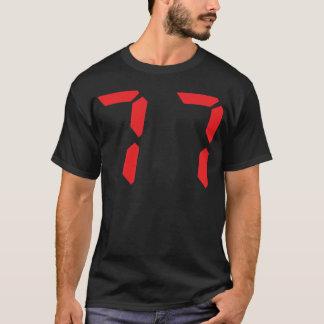77 soixante-dix-sept nombres numériques de réveil t-shirt
