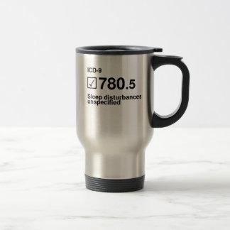 780,5, perturbations de sommeil, non spécifiées mug de voyage en acier inoxydable