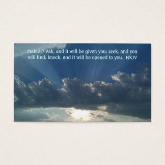 7:7 de Matt de carte de prière