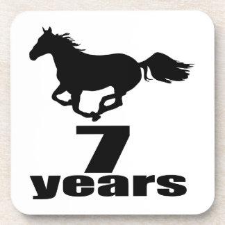 7 ans de conceptions d'anniversaire sous-bocks