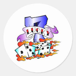 7 chanceux et tatouage de matrices adhésifs