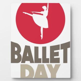7 février - jour de ballet photo sur plaque
