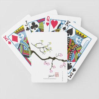 7 fleurs de Sakura avec 7 oiseaux, fernandes Jeu De Poker