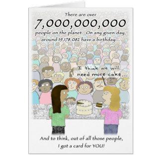 7 milliards de carte d'anniversaire de personnes