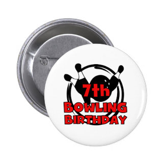 7ème Anniversaire de bowling Badge