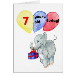 """7ème carte d'anniversaire de """"éléphant"""""""