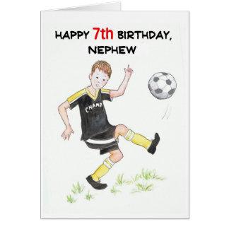 7ème Carte d'anniversaire pour un neveu -