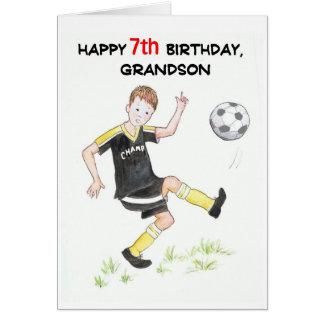 7ème Carte d'anniversaire pour un petit-fils -