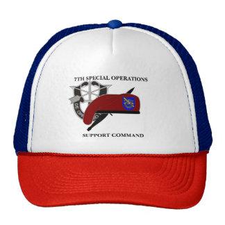 7ème CHAPEAU de COMMANDE de SOUTIEN d'OPÉRATIONS Casquettes De Camionneur