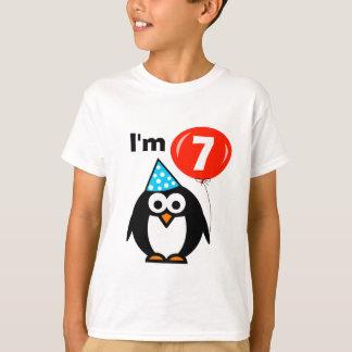 7ème chemise d'anniversaire d'enfants avec la t-shirt