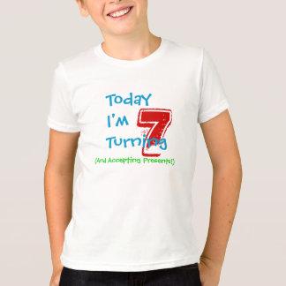 7ème chemise d'anniversaire t-shirt