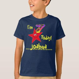 7ème Étoiles rouges de smiley de chemise de fête T-shirt