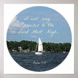 7h17 de psaume je chanterai des éloges au affiche