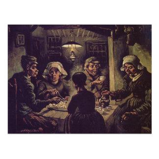 800px-vincent Van Gogh - l'eaterspng de pomme de Carte Postale
