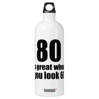 80 est grand quand vous regardez l'anniversaire bouteille d'eau en aluminium